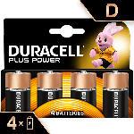 MediaMarkt Plus Power Alkaline D Batterien, 4er Pack (LR20/MN1300)