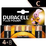 MediaMarkt Plus Power Alkaline C Batterien, 4er Pack (LR14/MN1400)