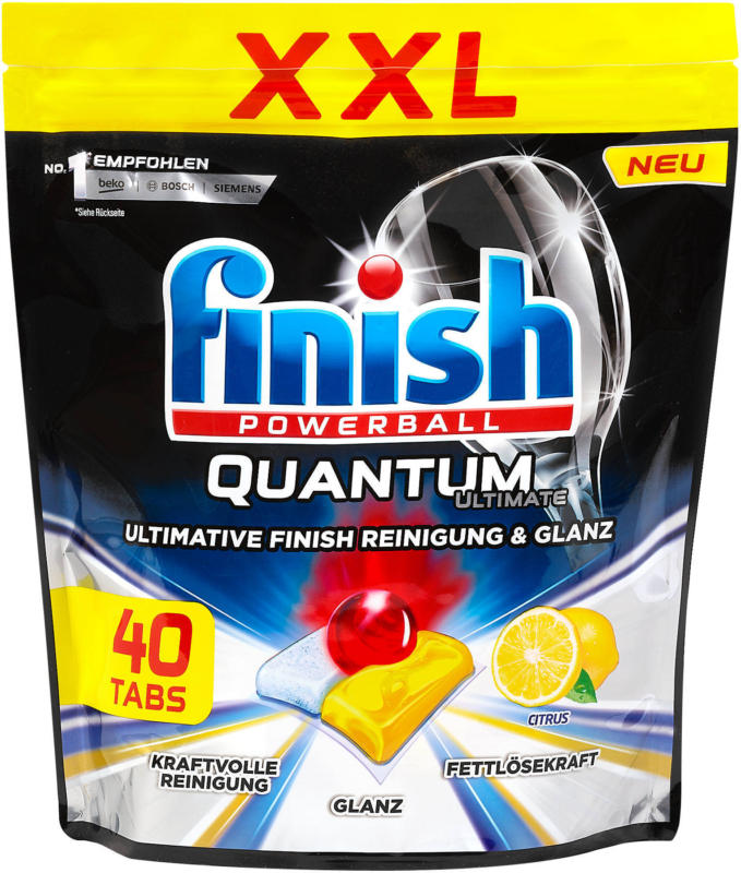 finish Powerball Quantum Geschirrspüler Tabs Citrus XXL Pack