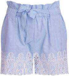 Damen Paperbag-Shorts mit Lochstickerei (Nur online)