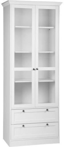 Vitrine Landwood weiß 80 x 200 x 45