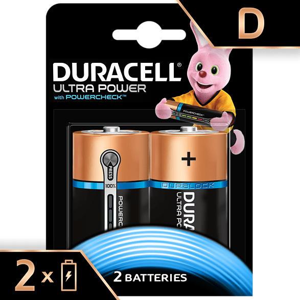 Ultra Power Alkaline D Batterien, 2er Pack (LR20/MX1300)