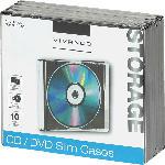 MediaMarkt CD/DVD Slim Case, 10er Pack schwarz