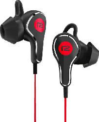 In Ear Bluetooth Kopfhörer Titan, schwarz/rot