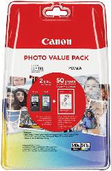Druckerpatronen PG-540XL/CL-540XL Photo Value Pack, schwarz/farbig (5222B013)