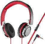 MediaMarkt Kopfhörer SR 770 On-Ear mit Telefonfunktion, schwarz-rot
