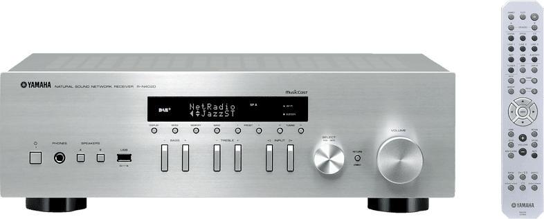 Stereo Receiver R-N402D, 2x100 Watt RMS, DAB+, silber