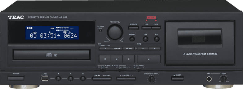 TEAC AD-850-B CD-Player/Kassendeck-Kombination (Schwarz)