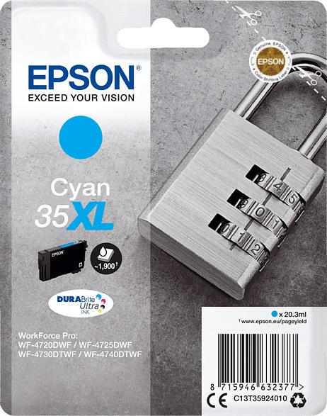 EPSON Original Tintenpatrone Schloss Cyan (C13T35924010    )