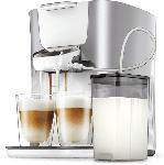 Saturn Senseo Kaffeepadmaschine HD6570/60 Latte Duo Plus, silber