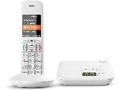 Schnurlostelefon E370A mit Anrufbeantworter, weiß (S30852-H2841-C102)