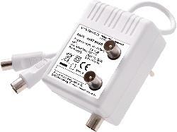 TV-Zweigeräteverstärker, DVB-C/DVB-T, 2x 15dB