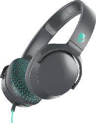 Kopfhörer Riff On-Ear, grau/türkis
