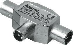 HAMA Koax-Kupplung - 2 Koax-Stecker  Zweitgeräte-Verteiler
