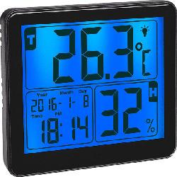 Digitales Thermo-Hygrometer, schwarz