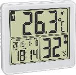 Saturn Digitales Thermo-Hygrometer, weiß