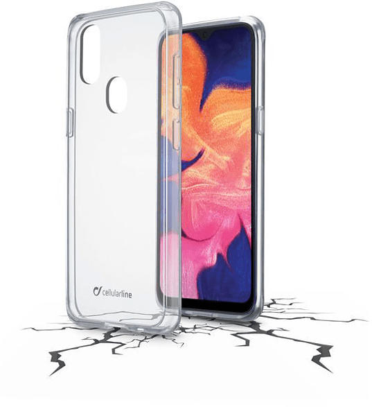 CELLULAR LINE CLEAR DUO , Backcover, Samsung, Galaxy A20e, Thermoplastisches Polyurethan, Transparent