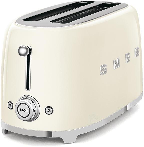 Retro Style Langschlitz-Toaster, 2-Schlitz, Creme TSF02CREU