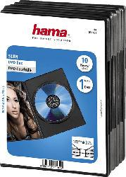 DVD-Leerhülle Slim, 10er-Pack, Schwarz