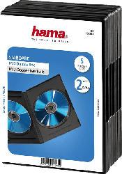 DVD-Doppel-Leerhülle Standard, 5er-Pack, Schwarz