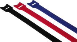 Klett-Kabelbinder, 200 mm, farbig (12 Stück)