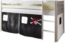 Spielbett Malte 90x200 cm Schwarz/ Weiß
