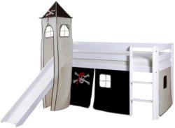 Spielbett Kasper 90x200 cm Schwarz/Weiß