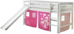 Spielbett Theo R 90x200 cm Pink/Weiß