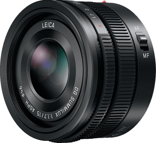 PANASONIC H-X 015 E-K Lumix G LEICA 15 mm f/1.7 ASPH (Objektiv für Micro-Four-Thirds, Schwarz)