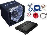 Saturn CPX1000.4 Bass Paket inkl. Endstufe + Subwoofer 1000 Watt max, schwarz