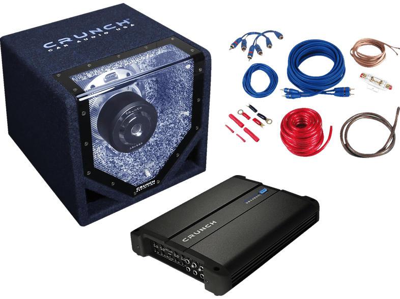 CPX1000.4 Bass Paket inkl. Endstufe + Subwoofer 1000 Watt max, schwarz