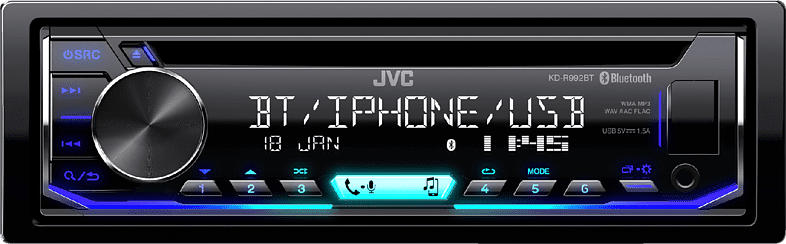 JVC KD-R992BT Autoradio 1 DIN, 50 Watt