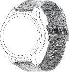 MediaMarkt Armband für Garmin VIVOMOVE/VIVOACTIVE3 nylon grey