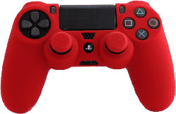 PS4 Silicone Skin + Grips (Red)
