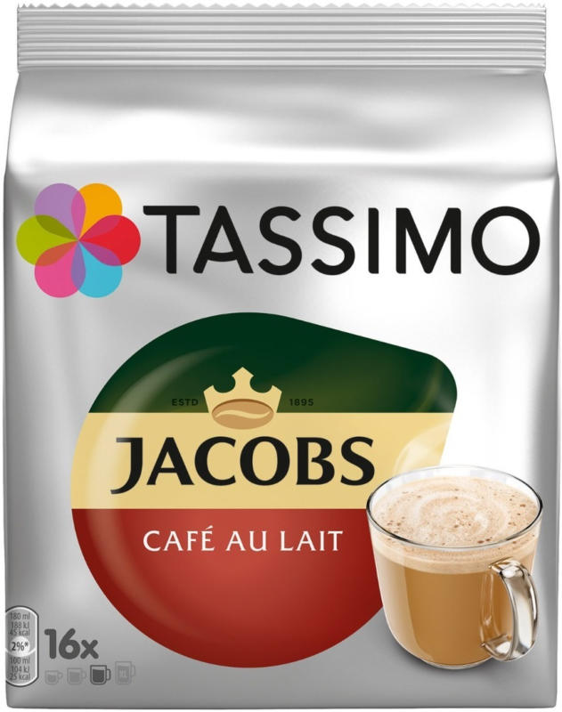 Tassimo Jacobs café au lait 16 capsules 184g -
