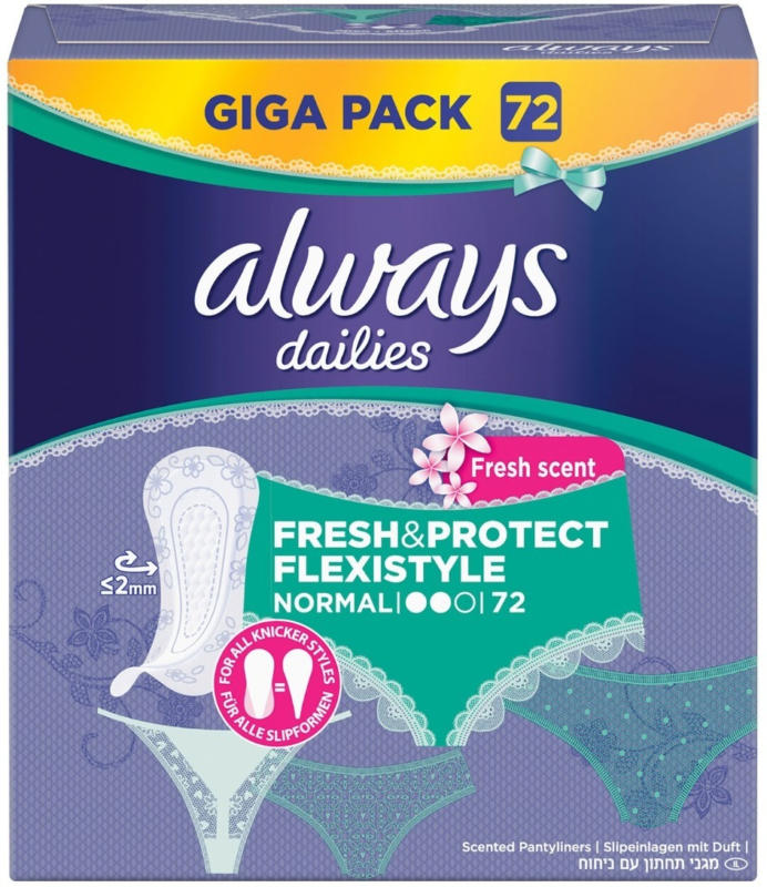 Always apports de slip Fresh & Protect Normal Fresh Flexistyle 72er -