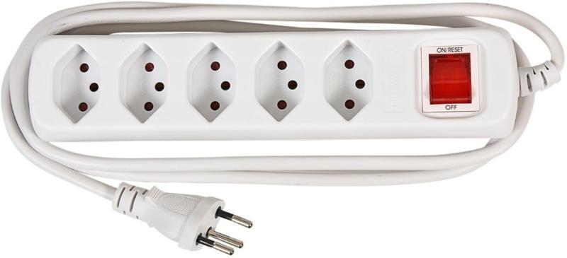 POWER EASY Steckdosenleiste 5x T13, 1.4 Meter -