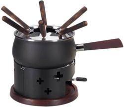 Nouvel Set de fondue à la viande CH look acacia croisé -