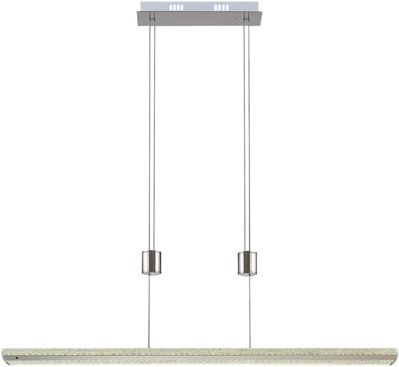 Suspension LED Iker nickel pierres acryliques -