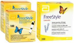 Abbott FreeStyle Teststreifen 2 x 100 + 200 FreeStyleLanzetten -