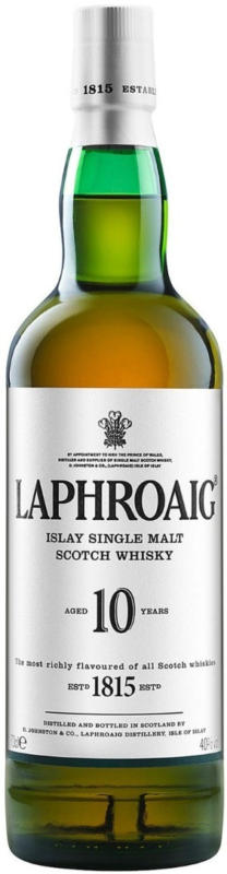 Laphroaig 10 Years Old Islay Single Malt Scotch Whisky 70cl -