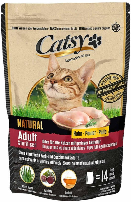 Catsy Adult & Sterilised Cat Chicken 1 kg -