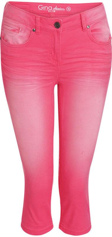 Damen Capri-Jeans mit Used-Waschung (Nur online)