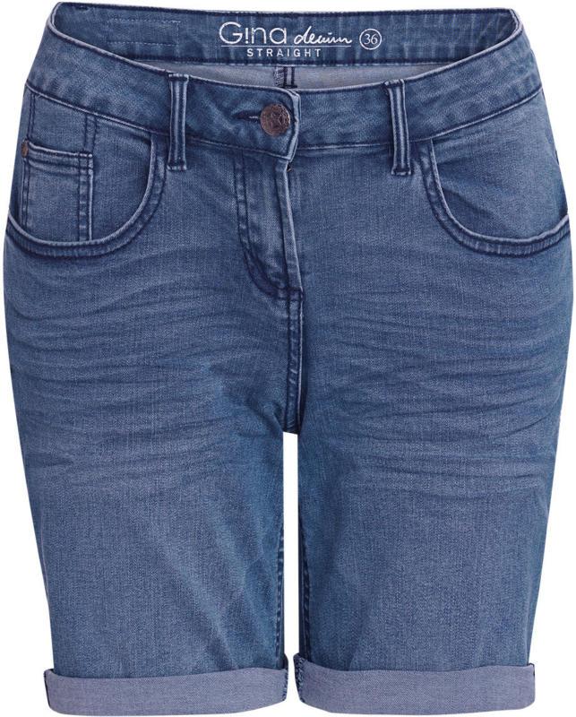 Damen Jeans-Shorts mit Faltenwaschung (Nur online)