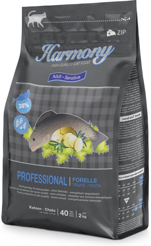 Harmony Cat Professional Adult Truite 2kg