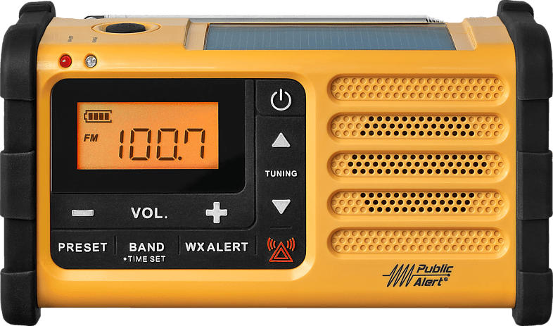 Notfallradio MMR 88 mit FM/MW, LED-SOS-Lampe, Signalton, Kurbeldynamo