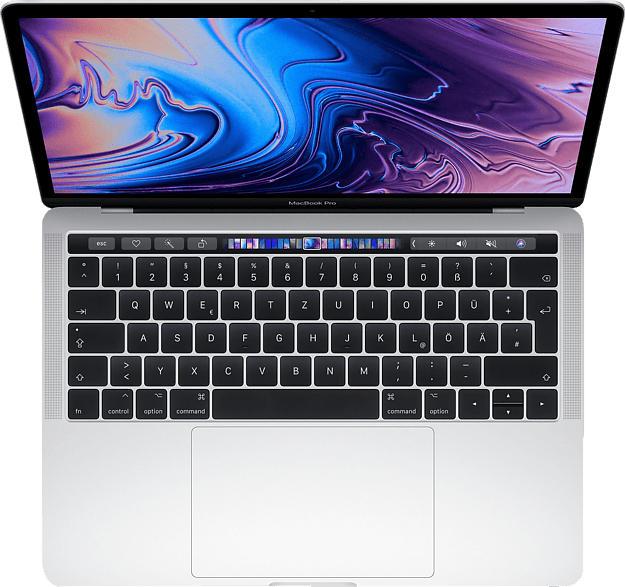 APPLE MacBook Pro MR9V2D/A-139663 mit französischer Tastatur, Notebook mit 13.3 Zoll Display, Core i5 Prozessor, 2 TB SSD, Intel® Iris™ Plus-Grafik 655, Silber