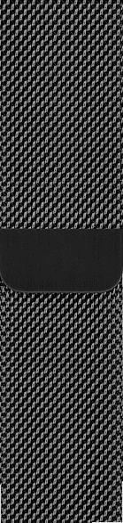 40mm Milanaise Armband, Space Schwarz (MTU12ZM/A)