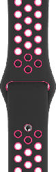 40 mm Nike Sportarmband, Schwarz/Pink Blast - S/M & M/L