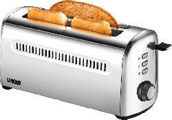 UNOLD 4er Retro 38366 Toaster Edelstahl (1500 Watt, Schlitze: 2)